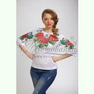 Атласна біла жіноча вишиванка БЖ-011Б