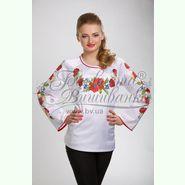 Атласна біла жіноча вишиванка БЖ-013Б