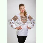 Атласна біла жіноча вишиванка БЖ-028Б