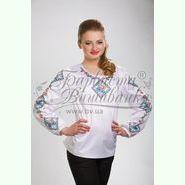 Атласна біла жіноча вишиванка БЖ-053Б
