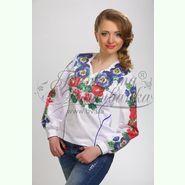 Атласна біла жіноча вишиванка БЖ-056Б