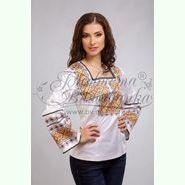 Атласна біла жіноча вишиванка БЖ-063Б