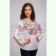 Атласна біла жіноча вишиванка БЖ-071Б