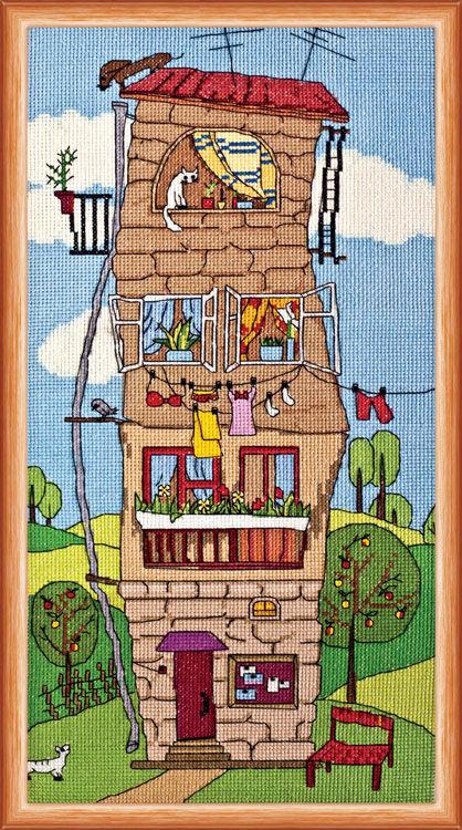 Схемы вышивок крестом сказочный домик