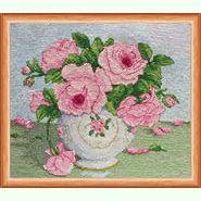 Розовые цветы AH-014