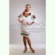 ПЛ007кБ. Атласна біла жіноча сукня