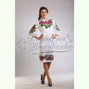 Атласна біла жіноча сукня ПЛ-009Б