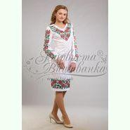Атласна біла жіноча сукня ПЛ-062Б