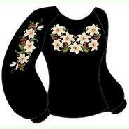 Чёрная женская вышиванка ВЖКт-021Ч