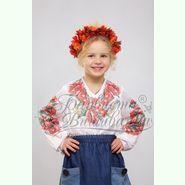 Атласна біла дитяча вишиванка БД-012Б