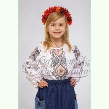 Атласна біла дитяча вишиванка БД-016Б