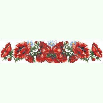 Маки червоні ПСд-041Б   Барвиста Вишиванка   Пояса   Заготовки под ... 282adb08d9cf0