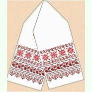 Домотканый белый рушник РД-022-21/50