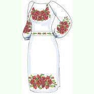 Лляна біла жіноча сукня ВПЖБ-22