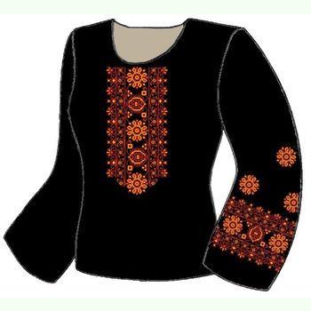 Лляна чорна жіноча вишиванка ВЖЛ-009Ч